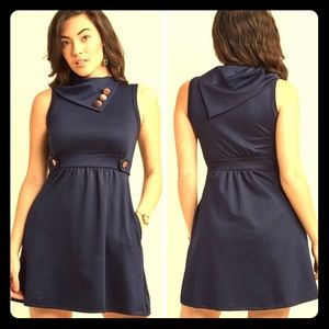 ModCloth dress blue white polka dots